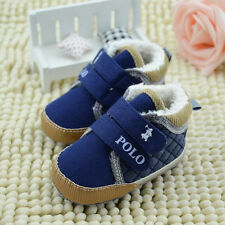 New Boys Winter Letter Casual Velcro Canvas 3-18M Soft-soled Prewalkers Shoes