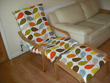Handmade ikea ALME Poang chair cover using orla kiely bedding VARIOUS FABRIC