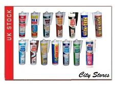 151 CARTRIDGE  FILLERS / SEALANTS / ADHESIVES / SILICONE - 15 TYPES FREE POSTAGE