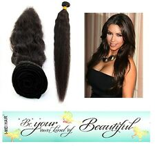 100% Virgin Brazilian Natural Wave Human Hair Weave Extension Bundle 100g Black