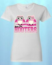 Save The HOOTERS WOMEN T-SHIRT Breast Cancer Awareness Shirts Save The Boobies!