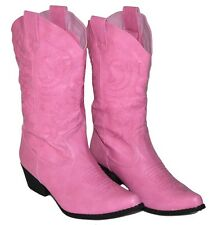 Womens PINK Calf High Cowboy Boots, Western Shoes, NEW, Fast Shipping, HOT!!