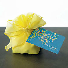 48 Organza Drawstring Wedding Favor Bags With Decorative Bow Four Color Choices
