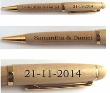 PERSONALISED ENGRAVED WOODEN PEN, WEDDING,CELEBRATION FOR GUEST BOOK SIGNING etc