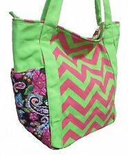 Personalize Chevron Bag Shopping Tote Diaper Bag FREE Monogram Embroidery Name
