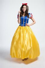 Adult Princess Snow White Halloween Costume Disney Beauty Fancy Party Dress Xmas