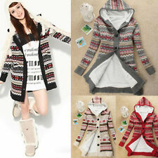 K Knitwear Thicken Warm Winter Hoody Women Snow Hoody Cardigan Coat Sweater top