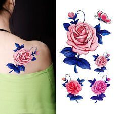 Hot Fashion Sexy Body Art Removable Waterproof Temporary Flower Tattoo Stickers