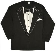 TUXEDO COSTUME MEN'S LONG SLEEVE T-SHIRT GREAT FOR HALLOWEEN AND PARTIES