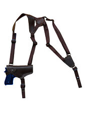 NEW Barsony Horizontal Brown Leather Shoulder Holster for Springfield Full Size