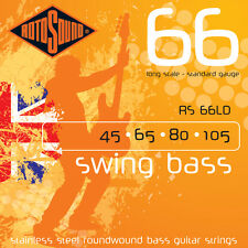 Rotosound 4-String Swing Bass Stainless Steel Bass Guitar Strings 3-Pack