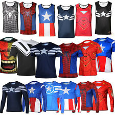 Superhero Marvel Avengers Compression Cycling Jersey T-Shirt Costume Casual Tops
