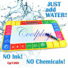 Childrens Learning Water Doodle Mat Aqua-draw Painting Play Magic Pen Kids Gift