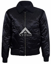 'DRIVE' SILVER SCORPION Men's Satin Black Fitted RYAN GOSLING Film Movie Jacket