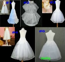 white Flower Girl Petticoats Wedding Crinoline Underskirt kids dress 3 Hoop slip