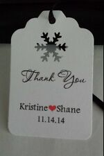 Wedding Tags Personalized Favor Tag  Winter Snowflake Thank You Buy 2 Get 1 Free