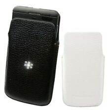 New OEM Leather Swivel Holster Pouch Cases Covers For BlackBerry Z10 Black White