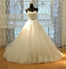 Ball Gown Lace Wedding Dresses 2015 New Fashion Sweetheart Bridal Gown Plus Size