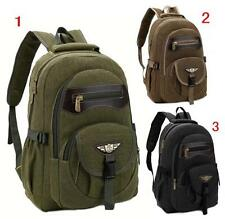 Men women Backpack Shoulder Bag canvas schoolbag Satchel Travel bookbag Rucksack