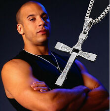 New Gift Unisex's Men Silver Stainless Steel Cross Pendant Necklace Chain gold