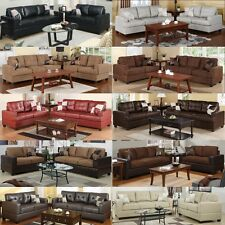 Leather Sofa set Microfiber sofa furniture 2 Pc Living room sofa Love seat couch