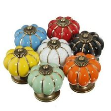 Ceramic Knobs Cabinet Pumpkin Door Cupboard Drawer Locker Furniture Pull Handle