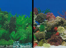 """Aquarium Fish Tank Background by the foot  ~ 19"""" Height Two-Sided ~ style 052"""