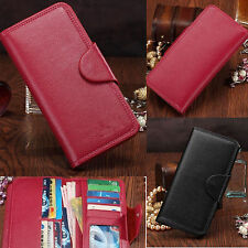 Women Men PU Leather lovers Wallet ID Credit Cards Holder Clutch Large Capacity