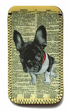 French Bulldog PHONE CASE POUCH FITS HTC 610, One M8, One Mini 2