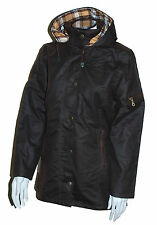 LADIES HUNTER OUTDOOR HERITAGE DELUXE FITTED WAX COTTON JACKET - ANTIQUE BROWN