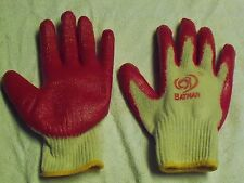 LOT OF 3 PAIRS OF RUBBER PALM-COATED WORK GLOVES