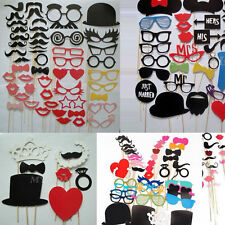 Fun DIY Photo Booth Props Lips Mustache On A Stick Wedding Birthday Party Favor