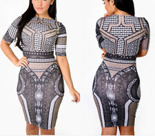 HOT Lady Print Clubwear Sexy Clothes Lady Cocktail Party Bandage Bodycon Dress