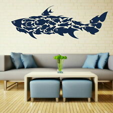 Huge Shark Made Of Fish Fish Wall Sticker Vinyl Art Decal Fish Wall Transfer Fi9