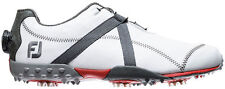 FOOT JOY M PROJECT BOA MEDIUM GOLF SHOES NEW -WHITE/CHARCOAL-55255- CLOSEOUT