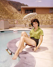 ANNETTE FUNICELLO BAREFOOT POSING BY HER POOL PHOTO OR POSTER