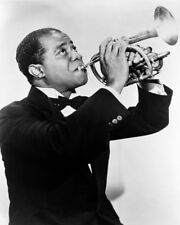 LOUIS ARMSTRONG IN TUXEDO PLAYING TRUMPET PHOTO OR POSTER