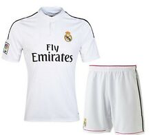 2015 Real Madrid Soccer Jerseys RONALDO Home Football Shirts+Shorts Uniforms Set