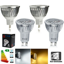 4/10/12x GU10 MR16 6W LED Bulbs High Power Warm / Day White Light 50W Spotlight