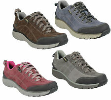 WAVE TRAIL GTX- LADIES CLARKS LEATHER LACE UP CASUAL WATERPROOF TRAINER SHOES