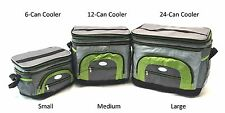 Handheld Soft Can Cooler Bag Expandable Top w/ Plastic Liner Lunch Bag 6-24 Cans