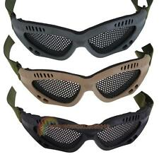 Tactical Paintball Airsoft Outdoor Protective Goggles Steel Mesh Glasses Eyewear