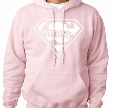 Super Nurse Pink Unisex Hoodie for Birthday Events Parties School Sports