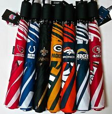 """NFL Travel Automatic Umbrella 42"""" By Totes-NWT-Lifetime Warranty"""