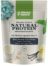 Natural Whey Protein Powder Concentrate Organic Vanilla + Agave Smoothie Blend