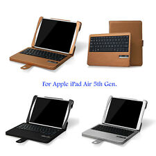 Detachable Bluetooth Wireless Keyboard Leather Case for Apple iPad Air / Air 2