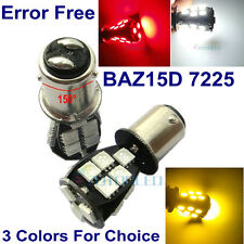 2 x 7225 BAZ15d P21/4W CANBUS 18 SMD LED Car Stop/Tail bulbs RED / White 12V DC