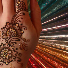 12 Colours/ Glitter Gel Cone/Face Painting/ Henna Tattoo Body Art/ Henna Gilding