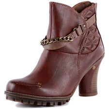 Mustang 1141-604 Womens Synthetic Burgundy Ankle Boots New Shoes All Sizes