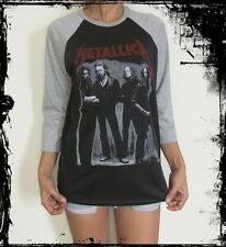 Unisex Metallica Raglan 3/4 Sleeve T-Shirt Jumper Sweater M L